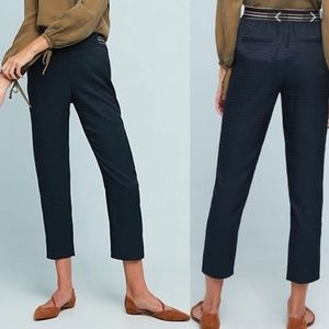 Anthro Essential Pull-on Trouser Navy Jacquard Med